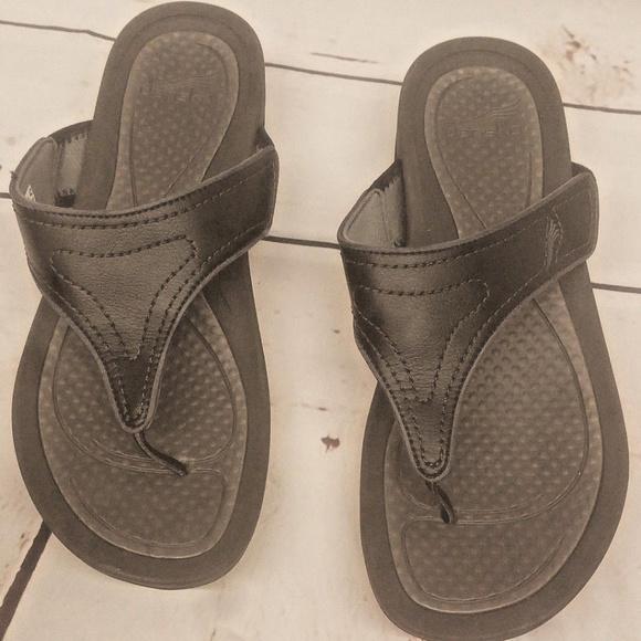 db8d42808b5 Dansko Shoes - DANSKO Katy 2 Black Grey 43 unisex flip flops